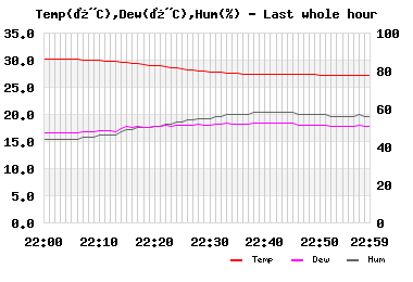 Temp/Dew Point/Humidity last whole hour